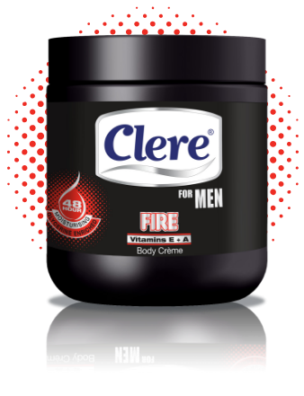Clere for Men Fire body crème