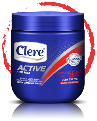 Clere Active for Him ginseng ultra energising body crème
