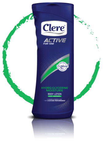 Clere Active for Him hydro-glycerine moisture body lotion