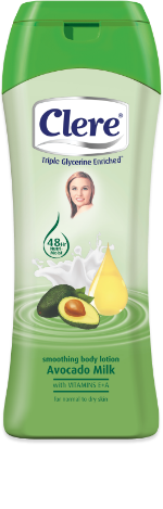 Clere Smoothing Avocado Milk hand & body lotion