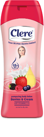 Clere Pampering Berries and Cream hand & body lotion