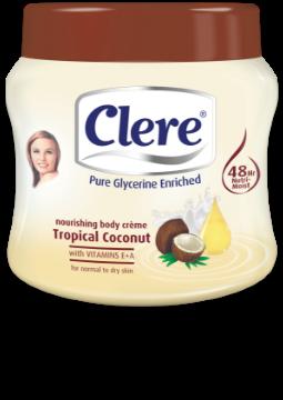 Clere Nourishing Tropical Coconut body crème