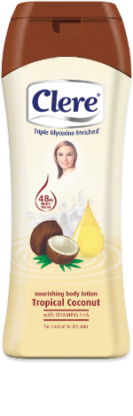 Clere Nourishing Tropical Coconut hand & body lotion
