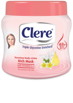 Clere Luxurious Rich Musk body crème