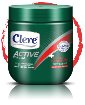 Clere Active for Him herbal camphor body crème