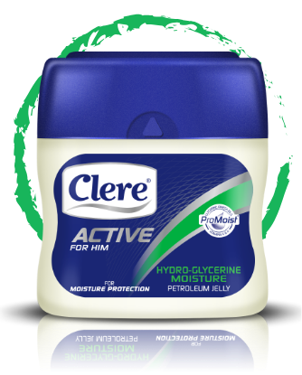 Clere Active for Him hydro-glycerine moisture petroleum jelly
