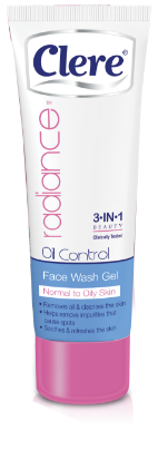 Clere Radiance oil control face wash gel